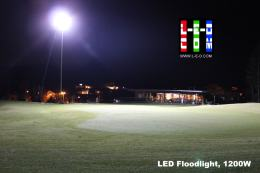 LED Flutlicht am Golfplatz